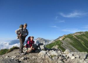 ★後立山連峰白馬鑓が岳より朝日岳を望む
