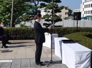 ★國分学校長による顕彰の辞